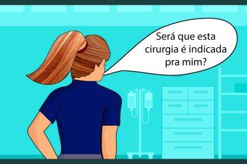 mulher questionando em uma clínica médica